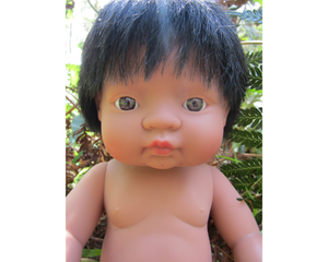 Miniland doll - Latin American boy, undressed 38cm