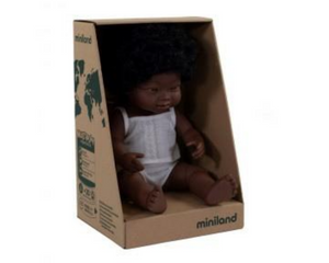 Miniland doll - African girl, down syndrome 38cm