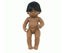 Load image into Gallery viewer, Miniland doll - Latin American boy, undressed 38cm