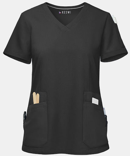 This v-neck top acts as the perfect top for hospital scrubs.
