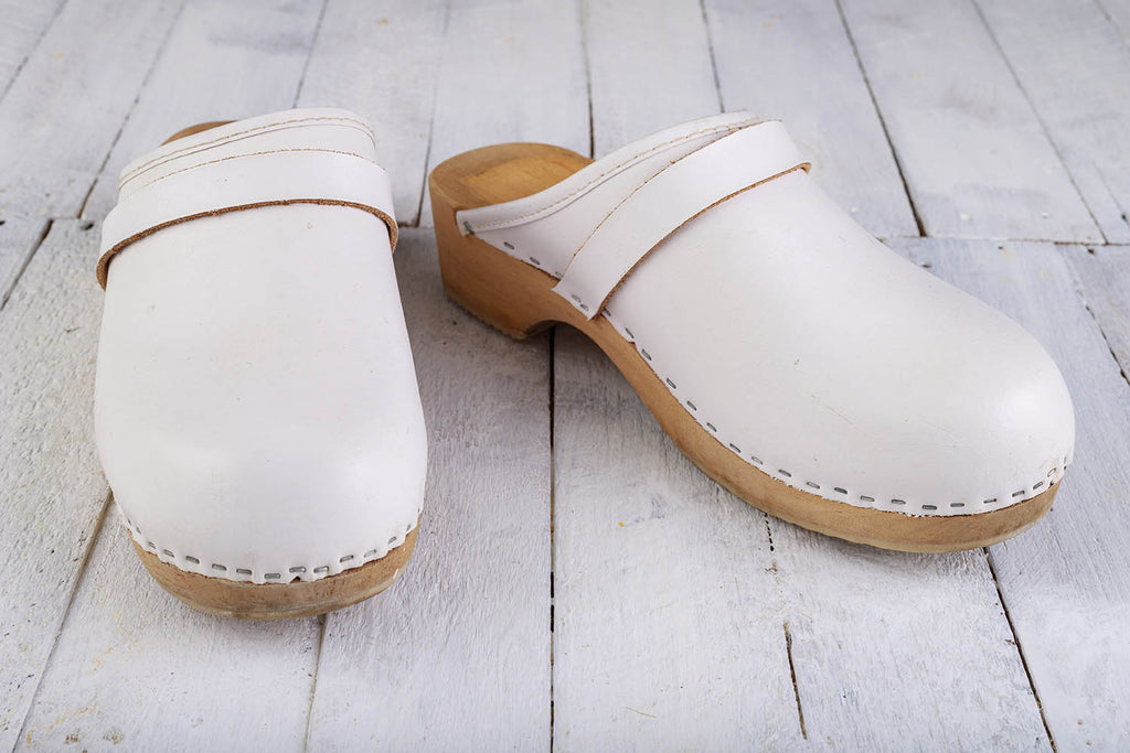 shoes for nurses: white clogs