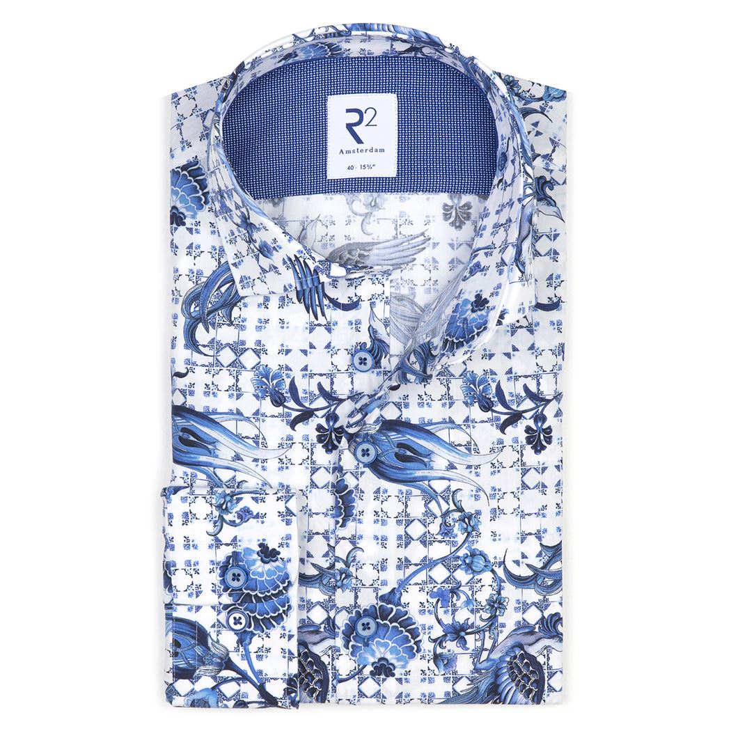 R2 – Shirt Delfts blauw - Mulder Fashion