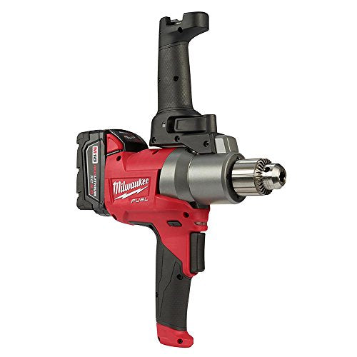 Milwaukee M18 Fuel Mud Mixer Kit with LED Light - with 2 Batteries, 18 Volt, Model Number 2810-20