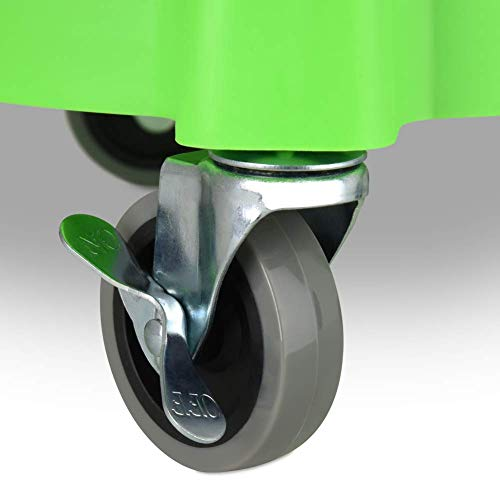 "Liquid X Original Bucket Dolly - Lime Green with 3"" Gray Casters (Set of 2 Dollies)"