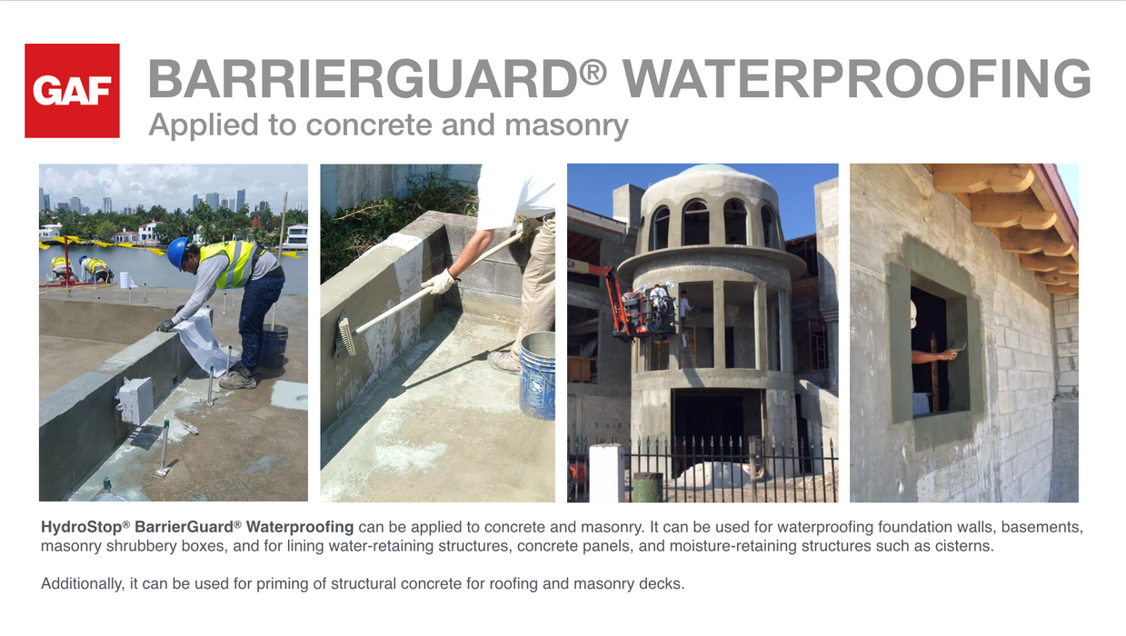 HydroStop ® BarrierGuard® Waterproofing