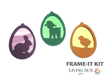 Load image into Gallery viewer, Bunny Easter Egg Frame-It Kit