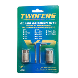 Twofers Glass Grinder Bits – 3/4″ 220 grit