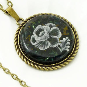 Antique Bronze Round Pendant