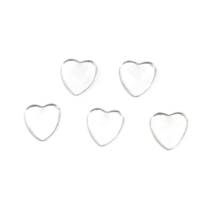 Clear Heart Cabochons
