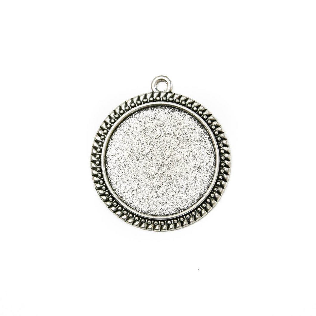 Antique Silver Round Pendant