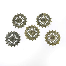 Load image into Gallery viewer, Antique Bronze Filigree - Round, 5 Pcs