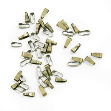Load image into Gallery viewer, Bronze Clip Bail, 50pcs