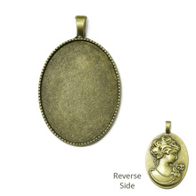 Load image into Gallery viewer, Bronze Cameo Pendant