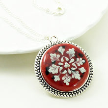 Load image into Gallery viewer, Antique Silver Round Pendant
