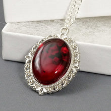 Load image into Gallery viewer, Silver Tone Filigree Pendant