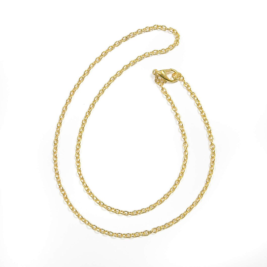 Gold Curb Chain 18