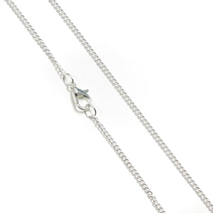 Silver Plated Curb Chain, 18""