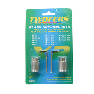 "Twofers Glass Grinder Bits - 3/4"" 100/120 grit"