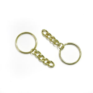 Key Chain - Gold Tone - 5 pcs