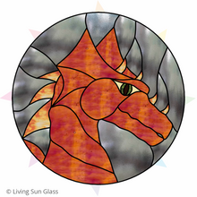 Load image into Gallery viewer, Dragon Stained Glass Pattern