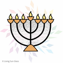 Load image into Gallery viewer, Menorah Suncatcher