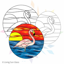 Load image into Gallery viewer, Flamingo Stained Glass Pattern – Set of 2