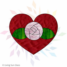 Load image into Gallery viewer, Heart with Rose