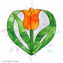 Load image into Gallery viewer, Tulip Heart Pattern