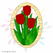 Load image into Gallery viewer, Tulips Oval Panel