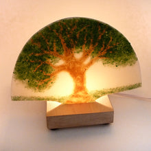Load image into Gallery viewer, Wooden Fan Base - Maple -  with Light Cord