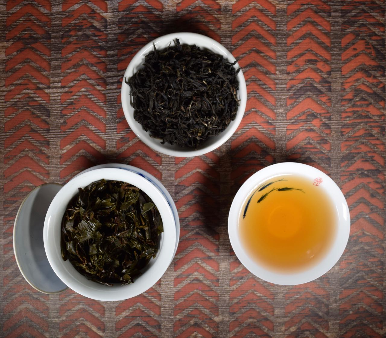 Big Red Robe, Gongfu, Oolong Tea, Whole Dry Leaf, Wet Leaf, and Infusion, Miami.Coffee