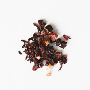 Loose Royal Fruits Blend, pieces of dried fruits, flowers, and flavorings