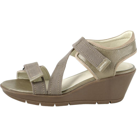 【Zumaia Elastic Straps Sporty Wedge Sandals】運動風  減壓楔型涼鞋_ANTIC TAUPE