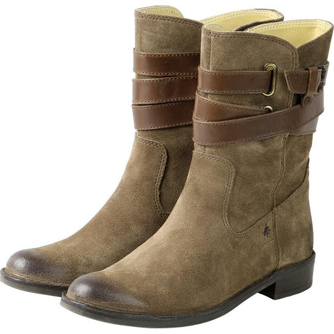 【Sevilla Mid High Boots with Straps】帥氣探險者  英倫中筒靴_TAUPE