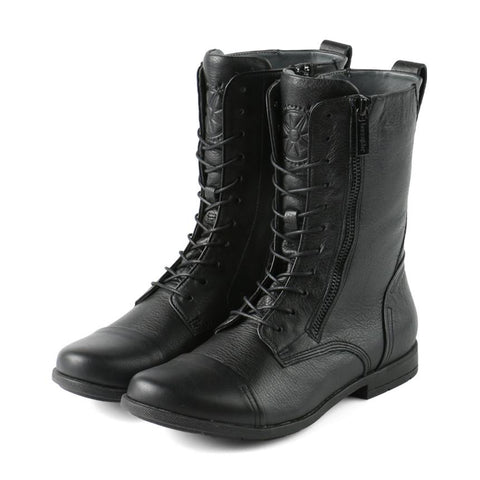 【Madeira Military Lace-Up Boots】個性帥氣 經典軍靴_Black