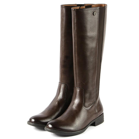 【Trapani Elastic Knee-High Boots】簡約彈力及膝靴長靴_Brown