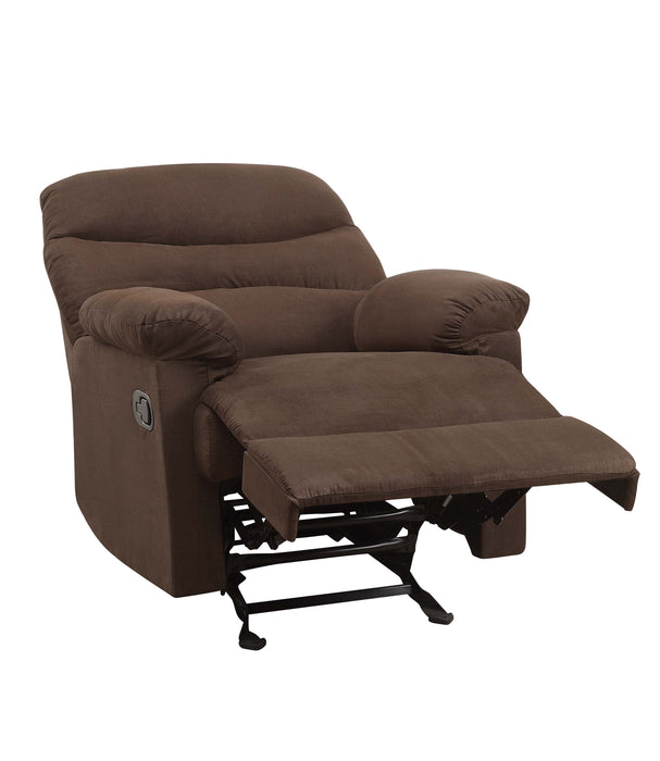 Arcadia Chocolate Microfiber Glider Recliner (Motion)