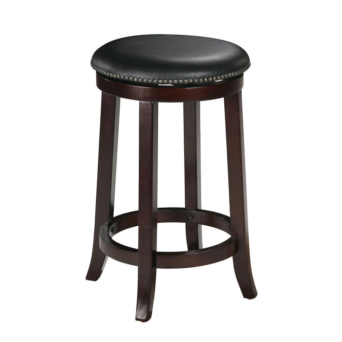 Chelsea PU & Espresso Counter Height Stool (Set-2)