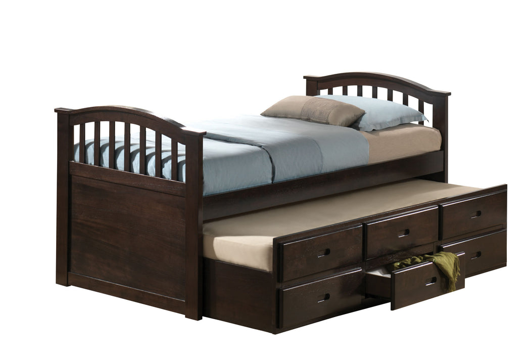 San Marino Dark Walnut Twin Bed & Trundle