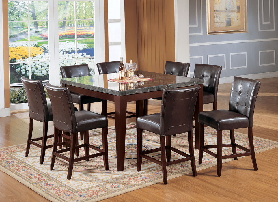Danville Black Marble & Walnut Counter Height Table image