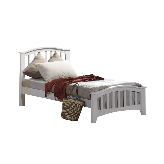 San Marino White Twin Bed