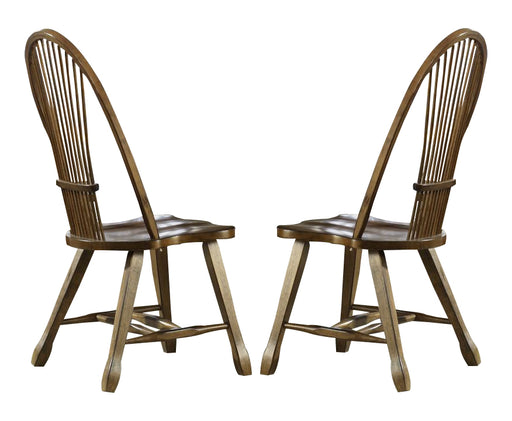 Liberty Furniture Treasures Sheaf Back Side Chair in Rustic Oak Finish 17-C1032 (Set of 2) image