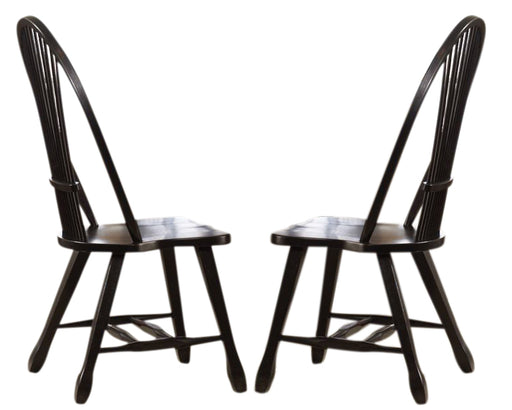 Liberty Furniture Treasures Sheaf Back Side Chair in Black 17-C4032 (Set of 2) image