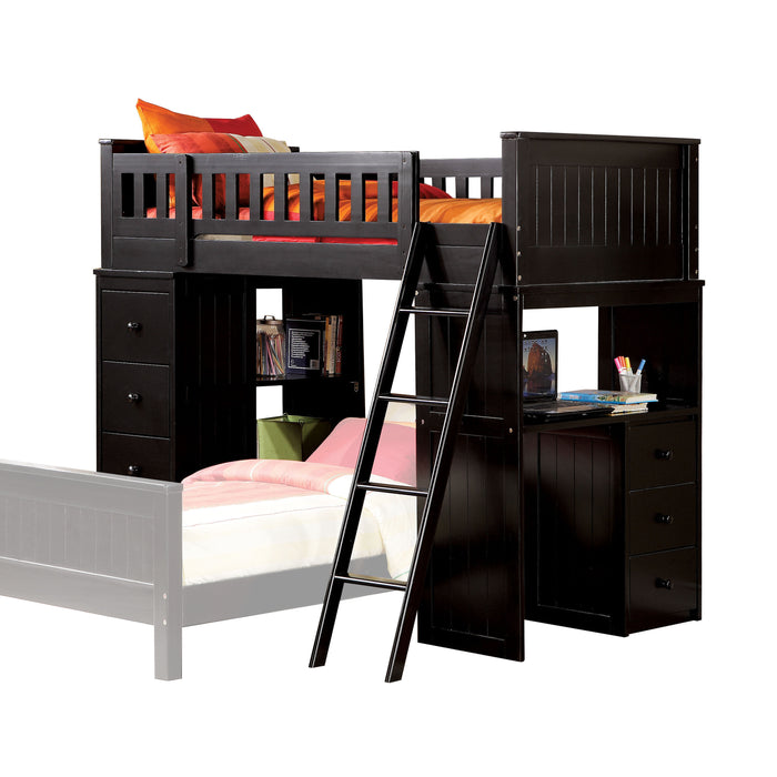 Willoughby Black Loft Bed