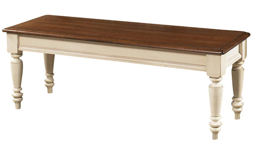 Liberty Furniture Low Country Bench (RTA) in Linen Sand with Suntan Bronze Finish 79-C9000B image
