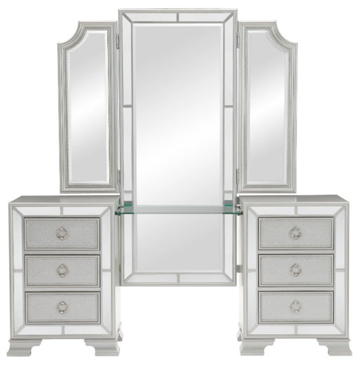 Homelegance Avondale Vanity Dresser with Mirror in Silver 1646-15 image