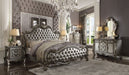 Versailles II Silver PU & Antique Platinum California King Bed image