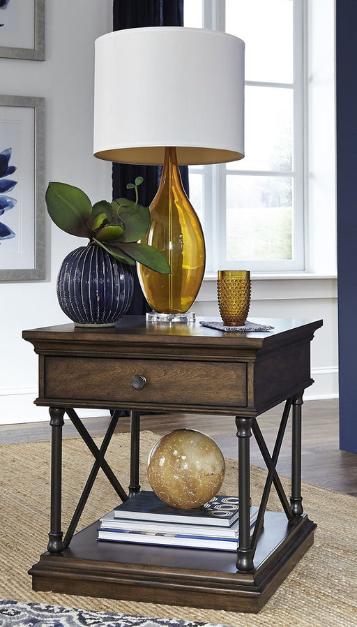 Liberty Furniture Tribeca End Table in Cordovian Brown 315-OT1020 image