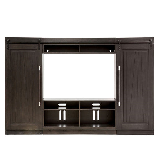 Liberty Abbey Entertainment Center with Piers in Charcoal 28-ENTW-ECP image