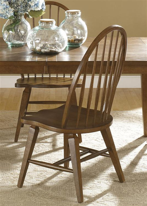 Liberty Furniture Hearthstone Windsor Back Side Chair  in Rustic Oak (Set of 2) 382-C1000S image